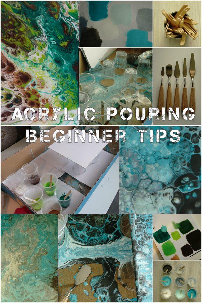 Kliederen met verf: mijn eerste poging Acrylic Pouring