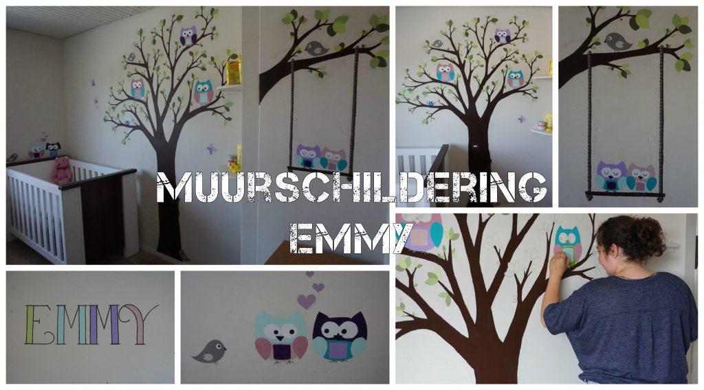 Muurschildering Emmy